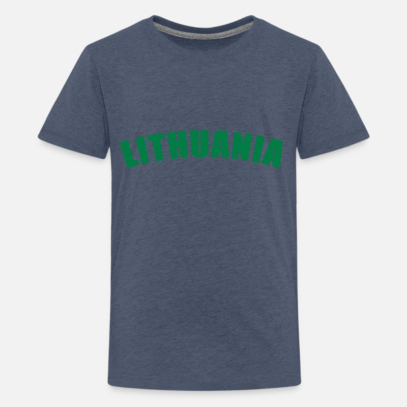 Lithuania T-Shirts - Lithuania - Teenage Premium T-Shirt heather blue