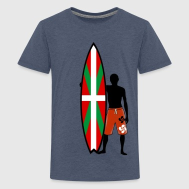 basque surfing 009 - Teenage Premium T-Shirt