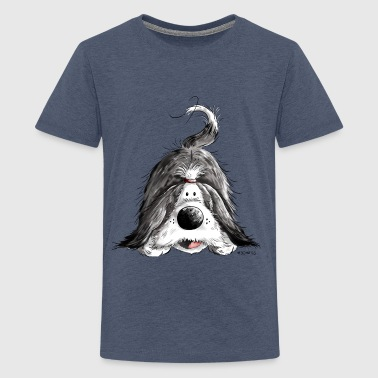 Fröhlicher Bearded Collie - Teenager Premium T-Shirt