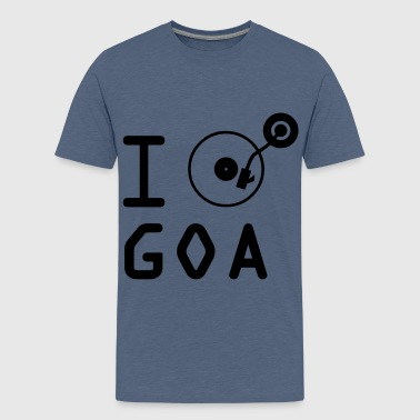 I play Goa / I love Goa / vinyl DJ - Teenage Premium T-Shirt