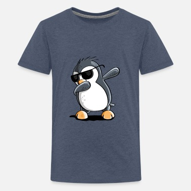 Dab Cool Dab Dance Penguin With Solbriller Dabbing - Premium T-shirt teenager