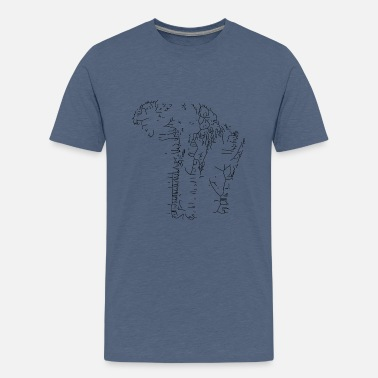 Olifant in abstracte vorm - Teenager premium T-shirt
