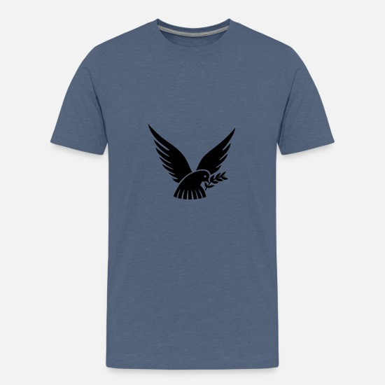 Pigeon T-Shirts - dove of peace - Teenage Premium T-Shirt heather blue