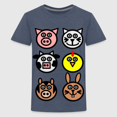 farm animals - Teenage Premium T-Shirt