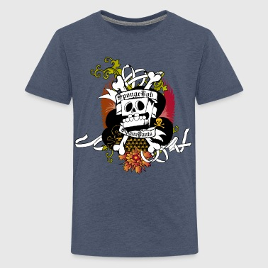 Mens' Shirt SpongeBob Skeleton - Teenager Premium T-Shirt