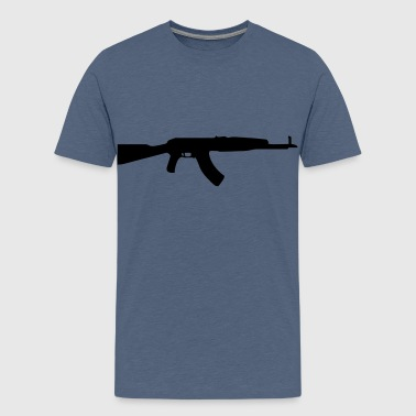 gun rifle weapon military m16 - Premium-T-shirt tonåring