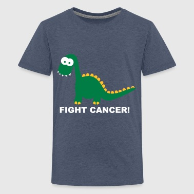 Fuck Fight Cancer Krebs Brustkrebs Dino Dinos - Teenage Premium T-Shirt