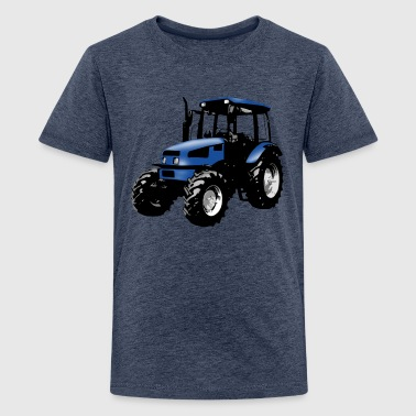 tractor blue - Teenage Premium T-Shirt