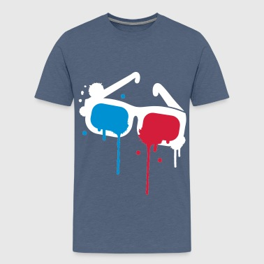 3D glasses - Teenage Premium T-Shirt