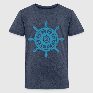 A ship wheel - Teenage Premium T-Shirt