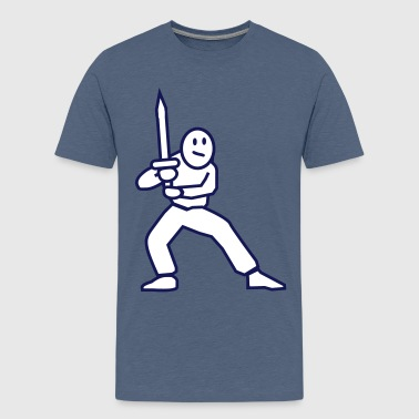 swordfighter - Premium T-skjorte for tenåringer