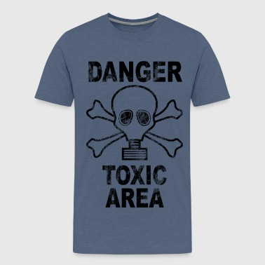 Danger toxic area - Teenage Premium T-Shirt