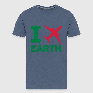 I travel Earth - reisen - fly - Erde - Welt - Teenager Premium T-Shirt