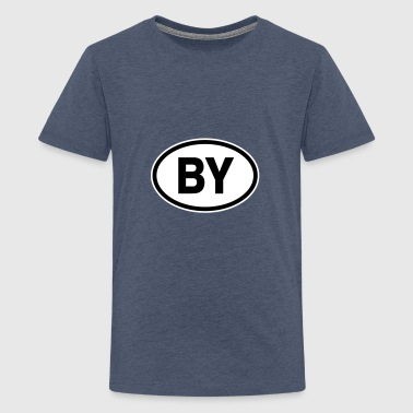 BY Belarus - Teenage Premium T-Shirt