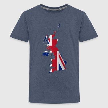 Map of the UK and Crown Dependencies - Teenage Premium T-Shirt