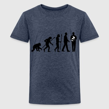 evolution_of_man_kaninchenzuechter02_2c - Teenager Premium T-Shirt