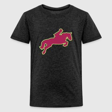 Jumping horse - Teenage Premium T-Shirt