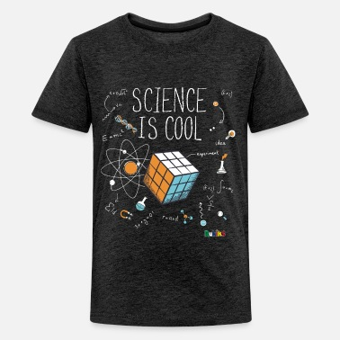 Nerd Rubik's Cube Science Is Cool - Teenage Premium T-Shirt