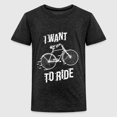 Ride2-01.png - Teenager Premium T-Shirt