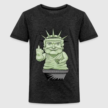 Statue Of Liberty The Statue of Liability - Teenage Premium T-Shirt