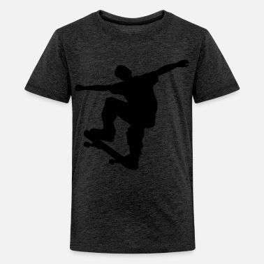 Skater skateboard x games logo sport skate board Kinder - Teenager Premium T-Shirt