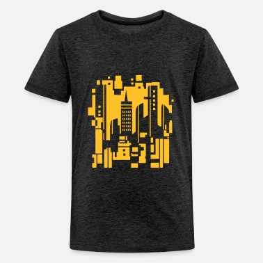 Cityscape Cityscape Design - Teenage Premium T-Shirt