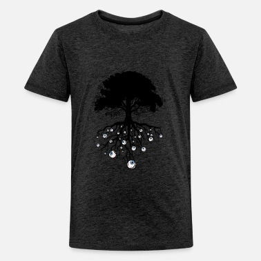 Tree with monster eyes - Teenage Premium T-Shirt