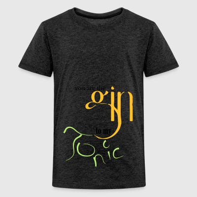 Gin Tonic love - Teenage Premium T-Shirt