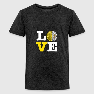 VATICAN CITY HEART - Teenage Premium T-Shirt