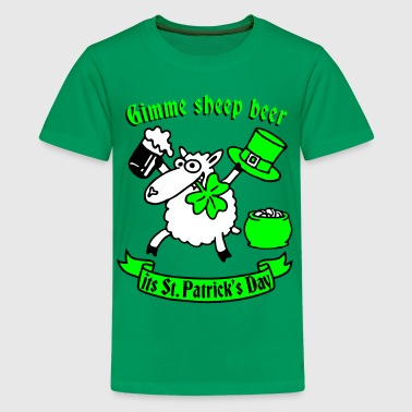 st_patricks_sheep - Camiseta premium adolescente