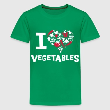 I love vegetables - Teenage Premium T-Shirt