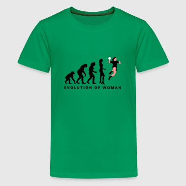 evolution_handball_spielerin_3c - Teenager Premium T-Shirt
