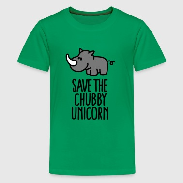 Save the chubby unicorn - Teinien premium t-paita