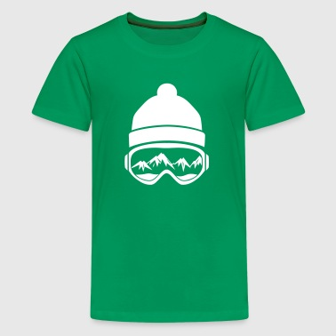 Skibrille T-Shirt Design - Teenager Premium T-Shirt