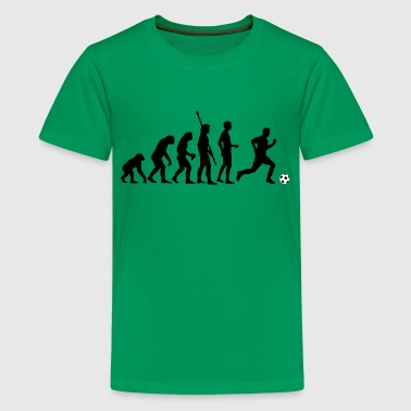 evolution_fussball_2c - Teenage Premium T-Shirt