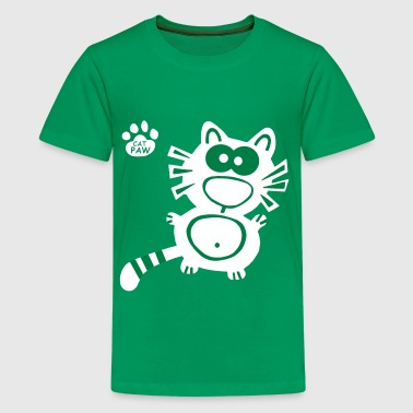 Catpaw Cat Cats Katt Katter Humor Fun Cartoon Jul - Premium-T-shirt tonåring