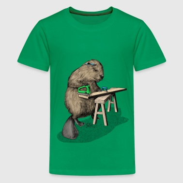 Beaver Carpenter - Teenager Premium T-Shirt