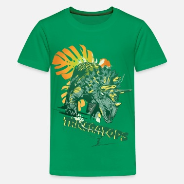 First Day Of School Animal Planet Triceratops - Teenage Premium T-Shirt