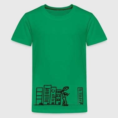giant on the wall - Teenage Premium T-Shirt