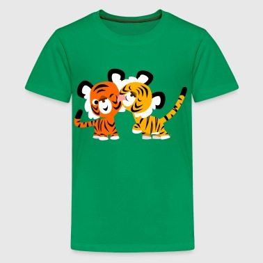 Niedliche verliebte Tiger von Cheerful Madness!! - Teenager Premium T-Shirt