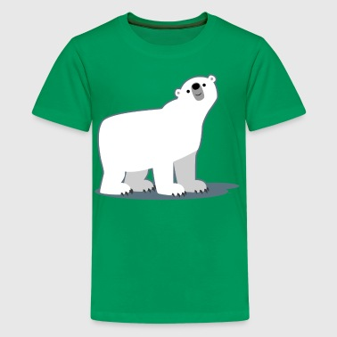 Süß Cartoon-Eisbär von Cheerful Madness!! - Teenager Premium T-Shirt