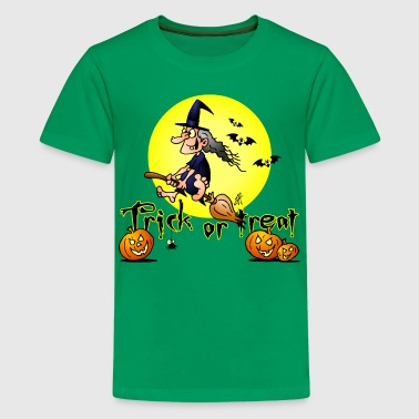 Halloween, Trick or treat - Premium T-skjorte for tenåringer