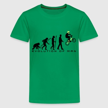 Bmx evolution_bmx_jump_a_2c - Teenager Premium T-Shirt