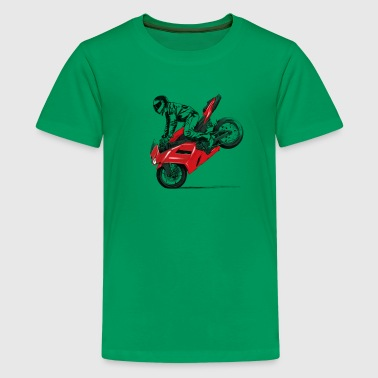 motorcycle stunt - Teenage Premium T-Shirt