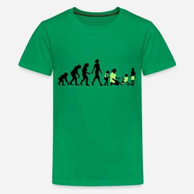 Kindergartenkinder evolution_erzieherin_022015_b_2c - Teenager Premium T-Shirt