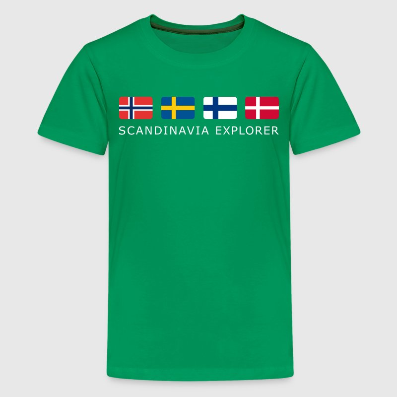 SCANDINAVIA EXPLORER white-lettered - Teenage Premium T-Shirt