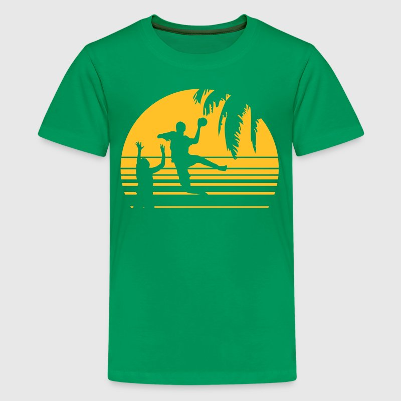 SUNSET BEACH HANDBALL - Teenager Premium T-shirt