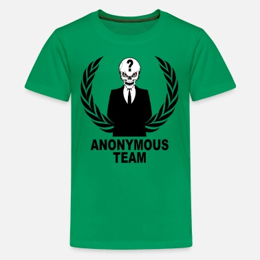 Anonymous Skull anonymous skulls  team - Teenage Premium T-Shirt