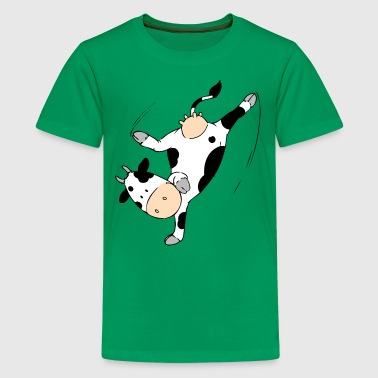 Mooviestars - Breakdancing Cow - Teenager Premium T-Shirt