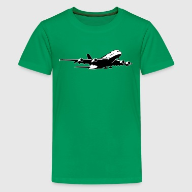 airplane Flugzeug A 380 (2 color) - Teenage Premium T-Shirt